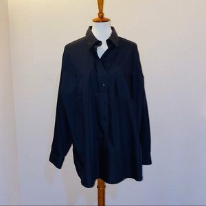 NWOT Foxcroft Black Button Down Shirt Size 20W
